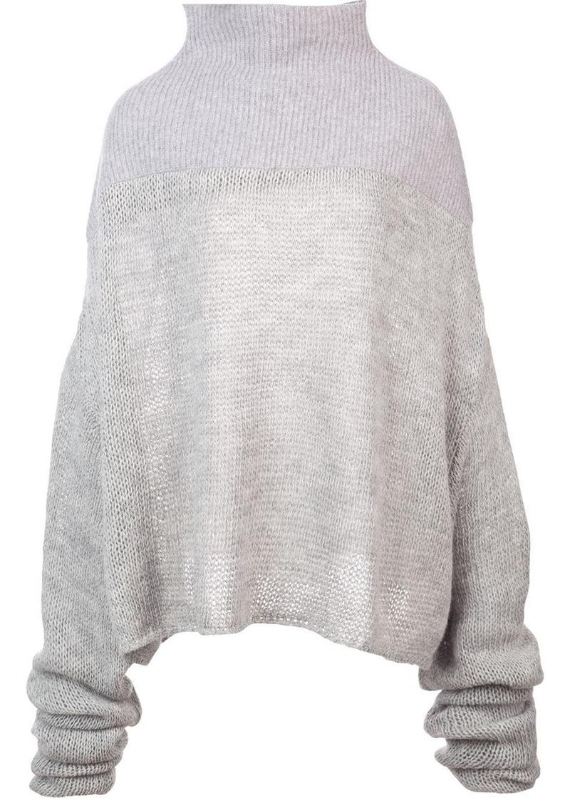Ben Taverniti Unravel Project mesh knit sweater