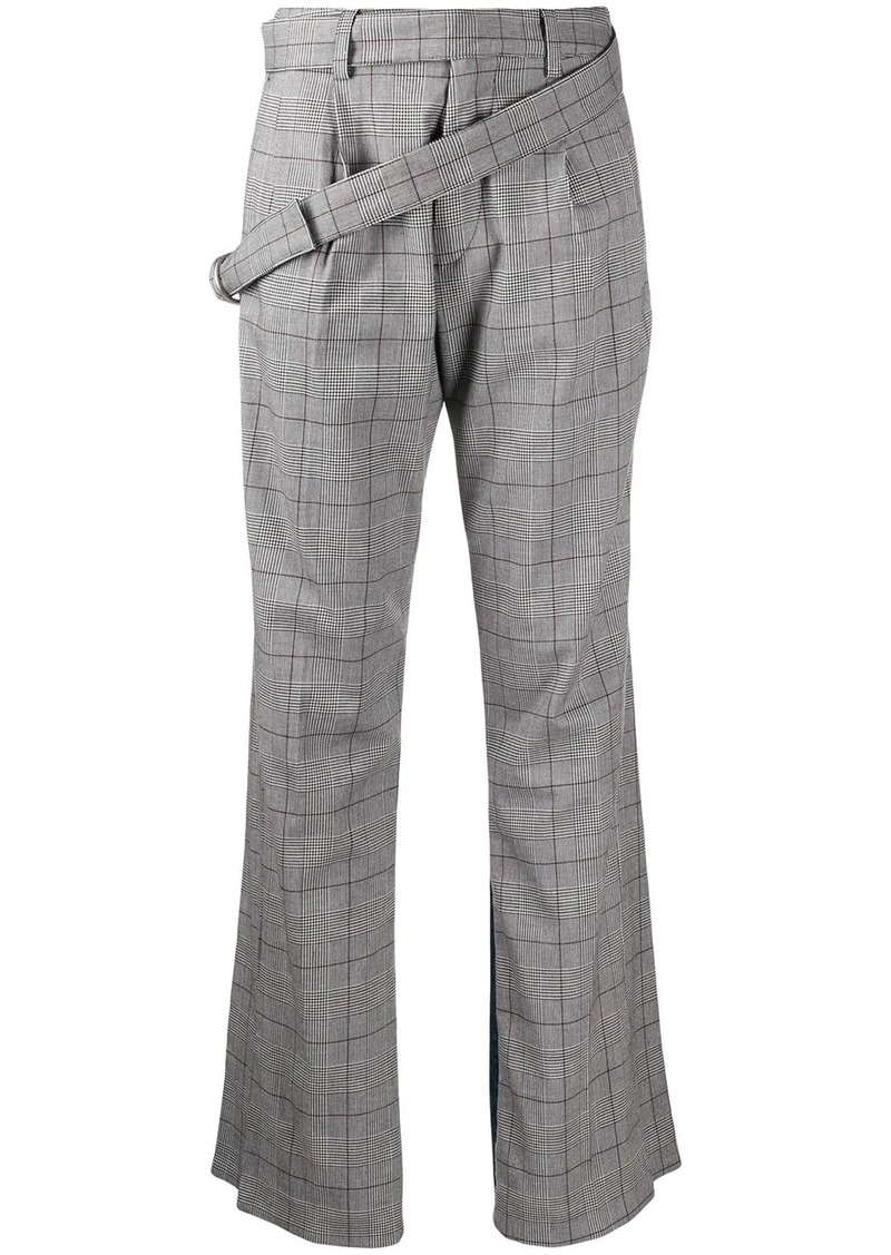 Ben Taverniti Unravel Project mixed panel straight trousers