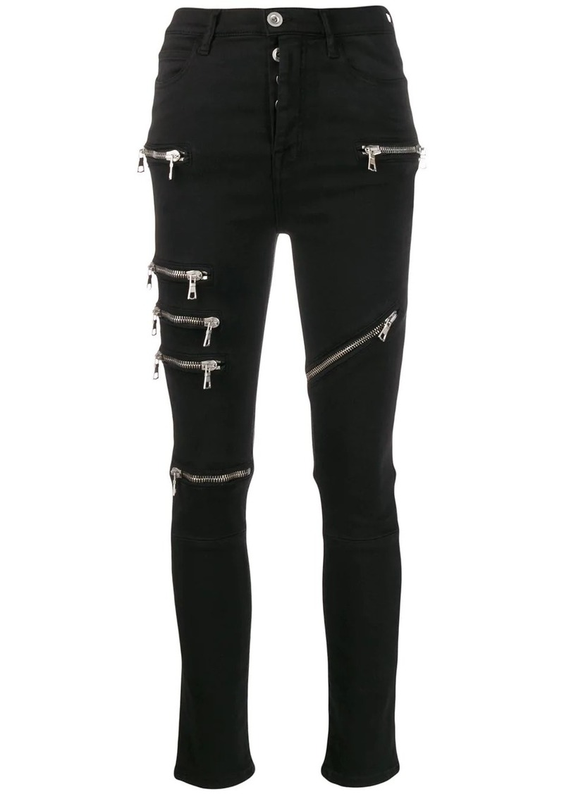 Ben Taverniti Unravel Project multi zip skinny trousers