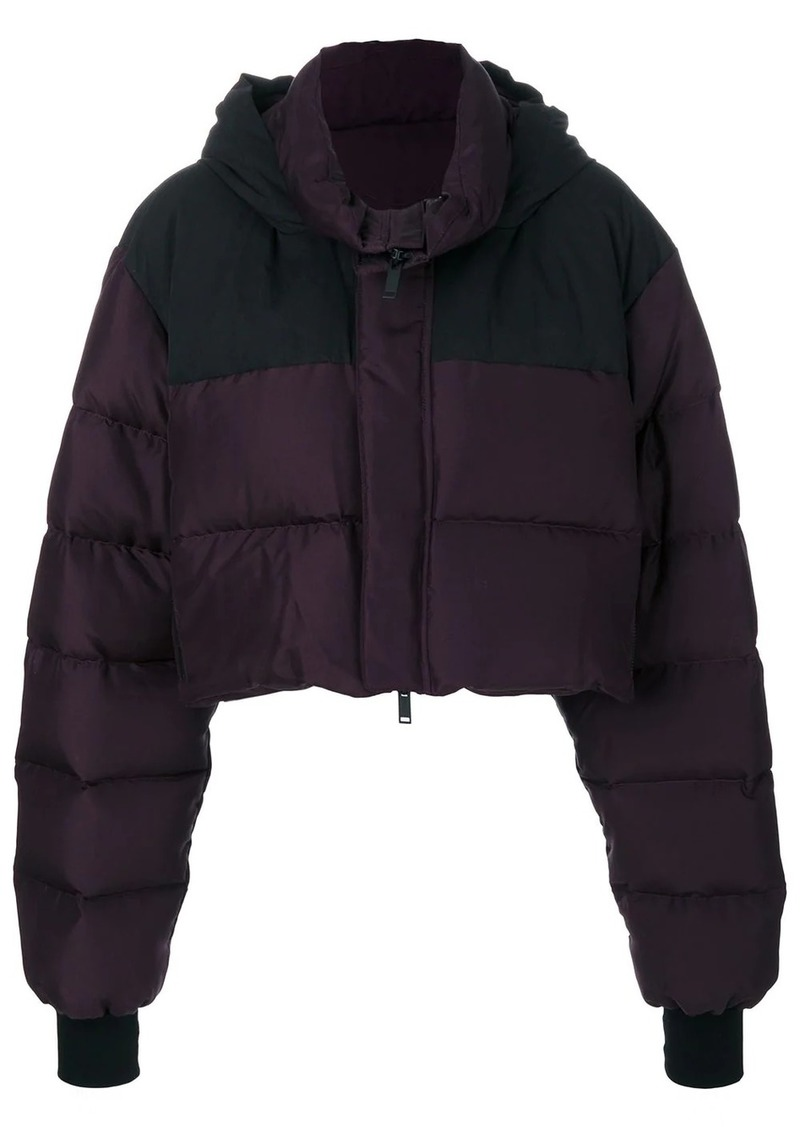 Ben Taverniti Unravel Project padded cropped jacket