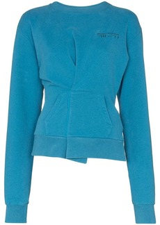 Ben Taverniti Unravel Project pin-tuck logo sweatshirt