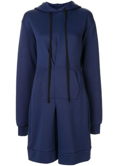 Ben Taverniti Unravel Project pintuck-detail hoodie dress