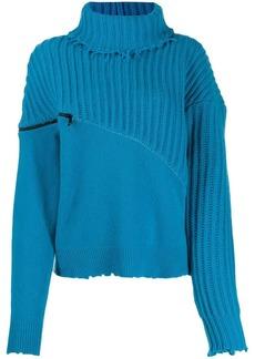 Ben Taverniti Unravel Project roll neck zipped jumper