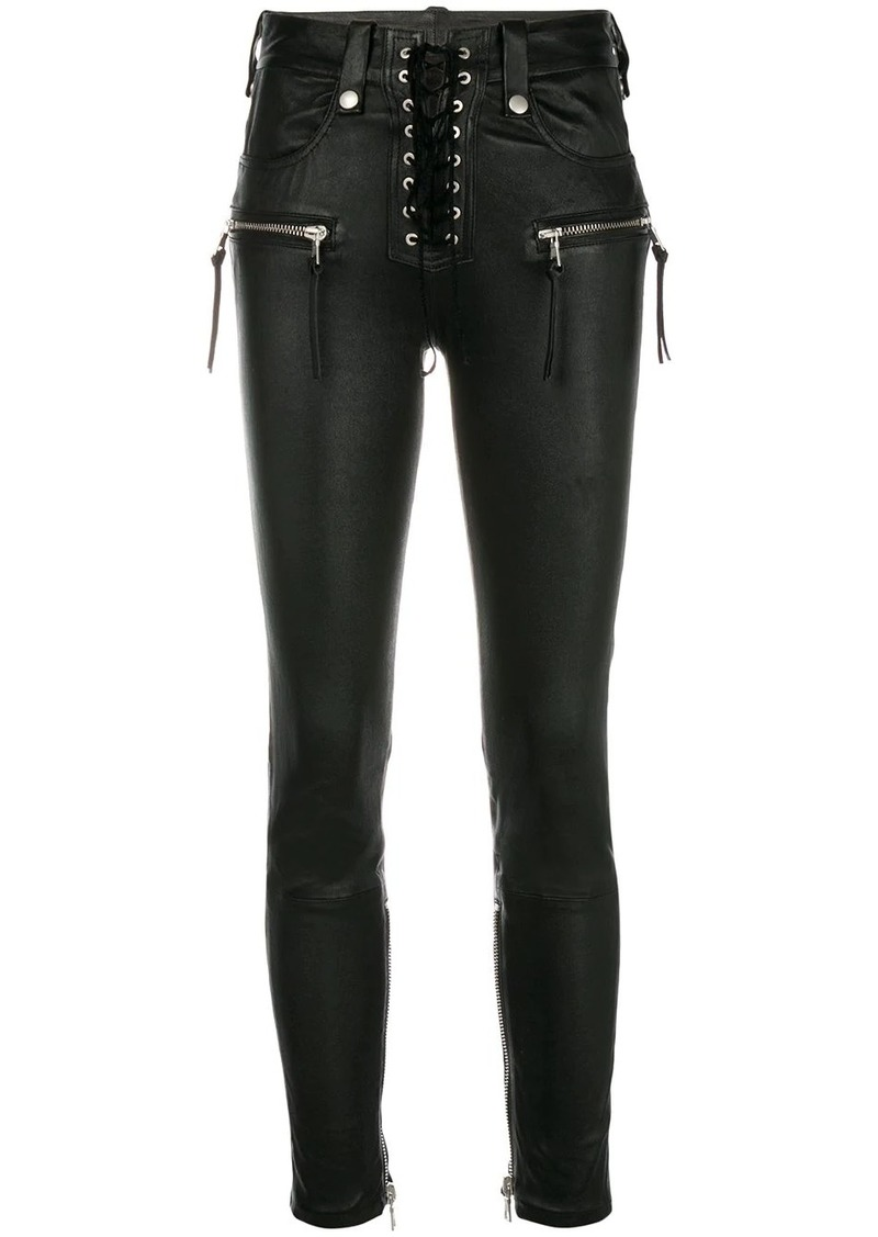 Ben Taverniti Unravel Project skinny lace-up jeans
