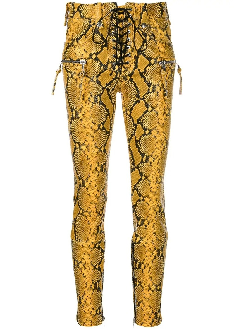 Ben Taverniti Unravel Project snake print skinny trousers