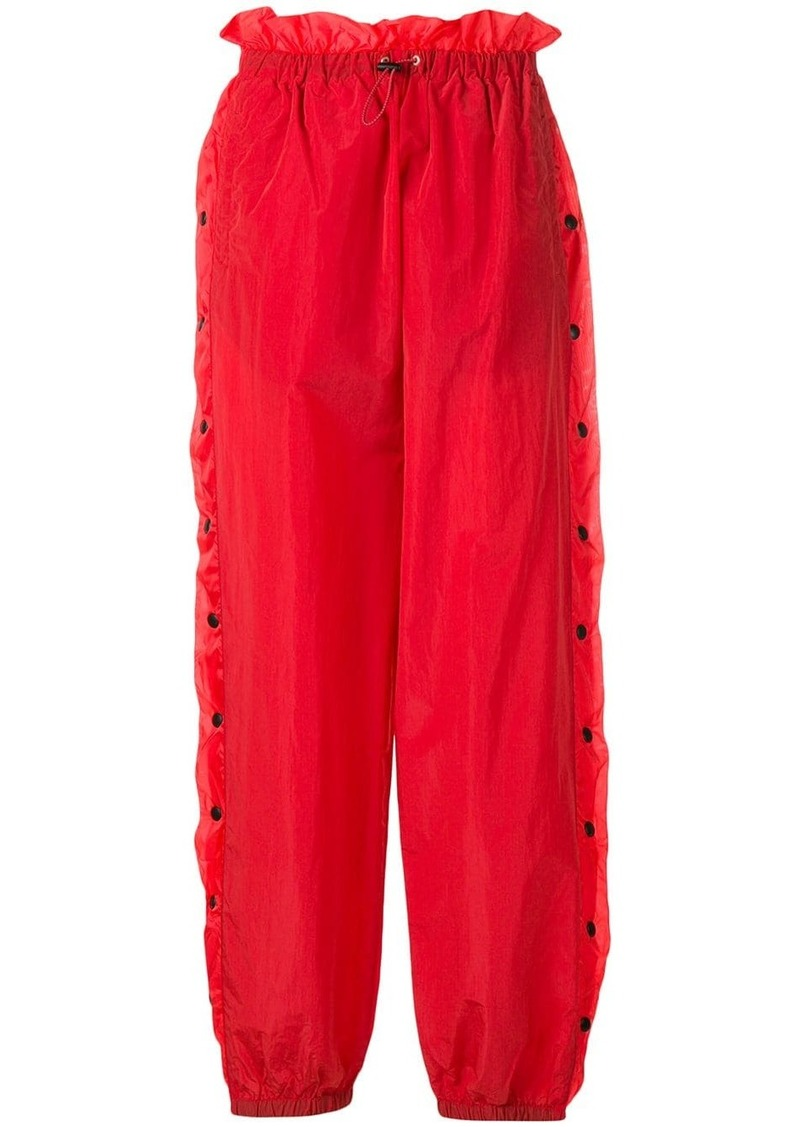 Ben Taverniti Unravel Project snap button track trousers
