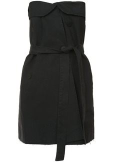 Ben Taverniti Unravel Project strapless belted mini dress