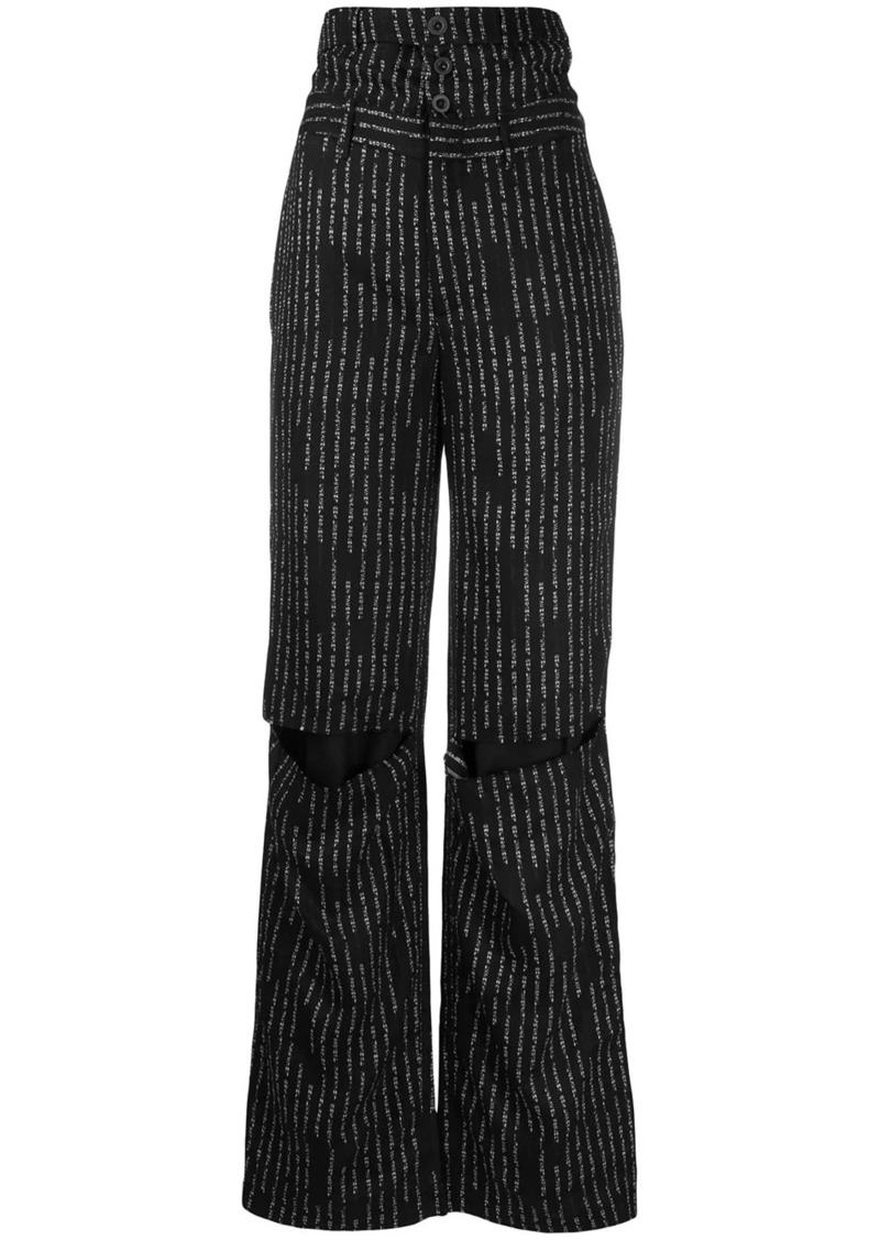 Ben Taverniti Unravel Project striped wide-leg trousers