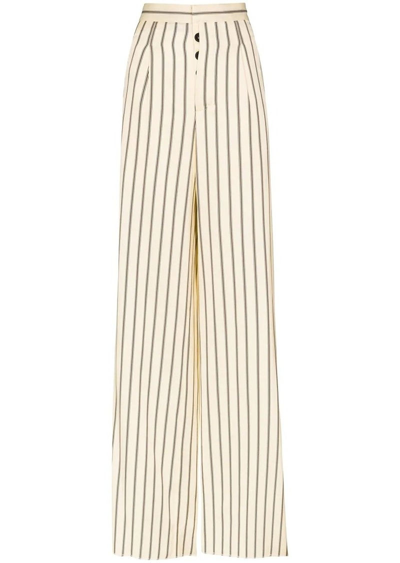 Ben Taverniti Unravel Project striped wide leg trousers