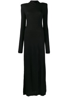 Ben Taverniti Unravel Project twist neck maxi dress