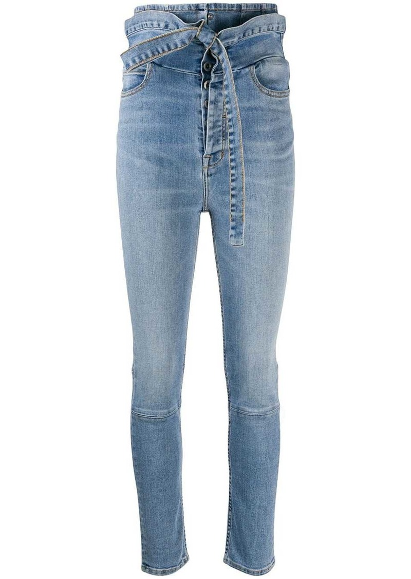 Ben Taverniti Unravel Project ultra-high waisted skinny jeans