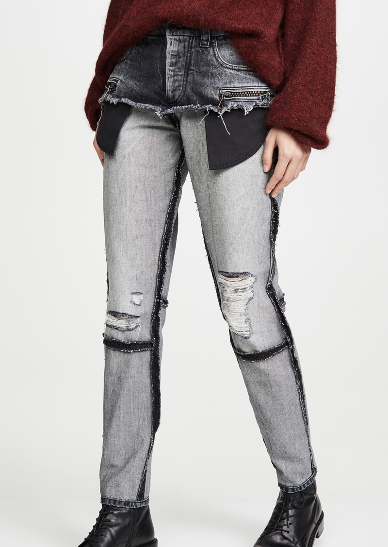 Ben Taverniti Unravel Project Unravel Project Moonwash Double Layer Jeans