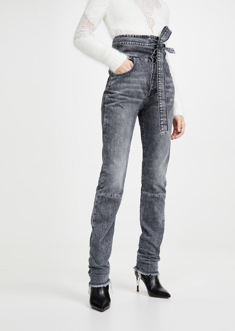 Ben Taverniti Unravel Project Unravel Project Stonewash Corset Sraight Leg Jeans