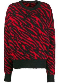 Ben Taverniti Unravel Project zebra print sweater