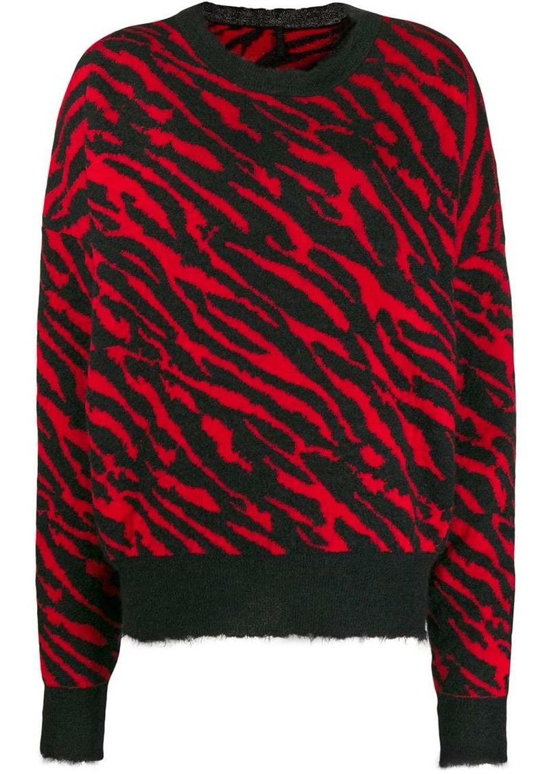Ben Taverniti Unravel Project zebra print jumper