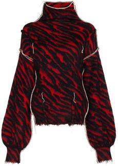 Ben Taverniti Unravel Project zebra-stripe distressed jumper