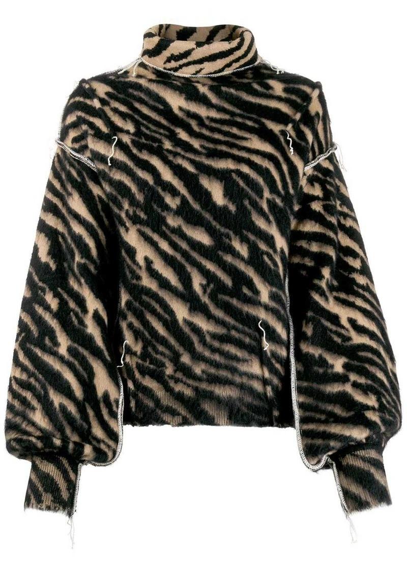 Ben Taverniti Unravel Project zebra striped jumper