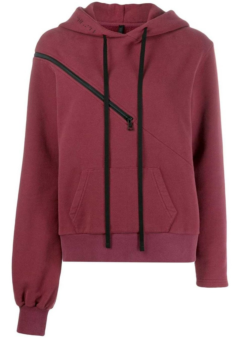 Ben Taverniti Unravel Project zip detail hoodie