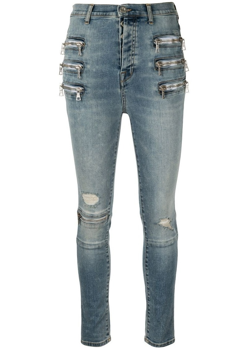 Ben Taverniti Unravel Project zip-embellished skinny jeans