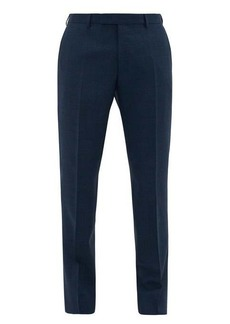 Berluti Checked slubbed-wool blend suit trousers