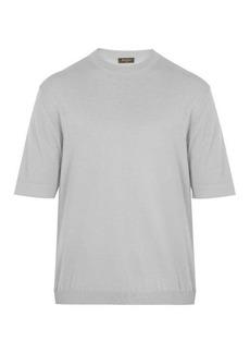 Berluti Crew-neck cashmere-blend T-shirt