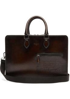 Berluti Deux Jours Scritto leather briefcase