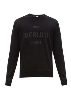Berluti Double-faced intarsia crew-neck wool-blend sweater