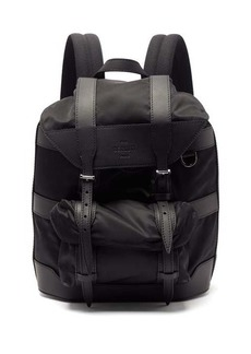 Berluti Fraction small leather-trimmed backpack