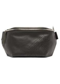 Berluti Lasered-Scritto leather belt bag