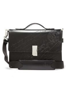 Berluti Lasered-Scritto leather briefcase