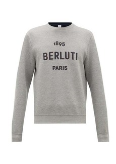 Berluti Logo-embroidered jersey sweater
