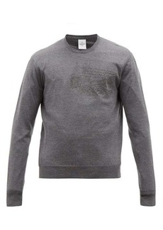 Berluti Scritto-embroidered wool sweater
