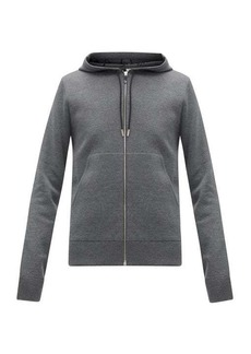 Berluti Scritto-lined wool-blend hooded sweatshirt