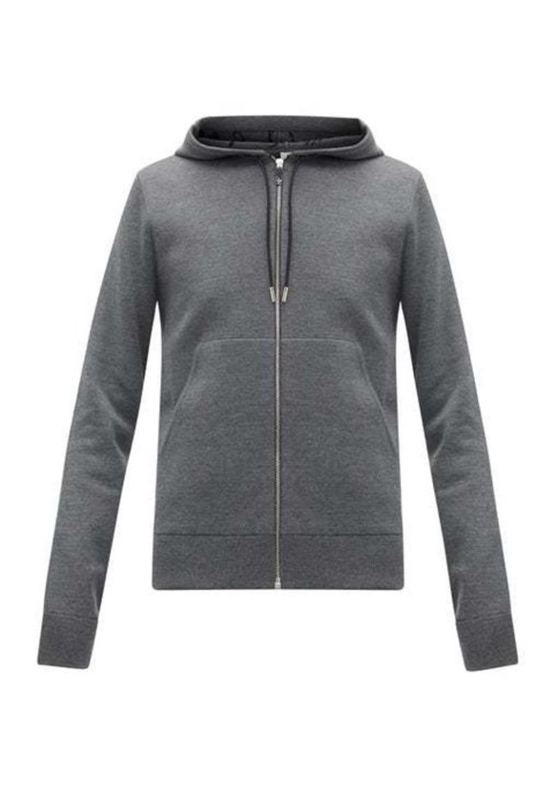 Berluti Scritto-lined wool-blend hooded sweatshirt