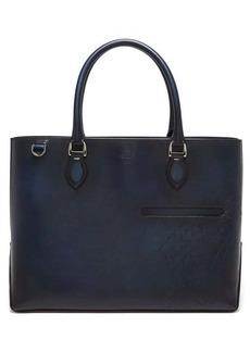 Berluti Scritto patinated Venezia-leather tote bag