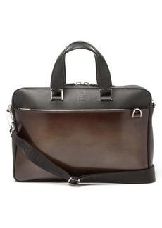 Berluti Venezia-leather panel briefcase