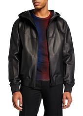 Berluti Men's Leather Zip-Front Jacket
