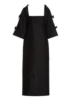 Bernadette Antwerp - Women's Chloe Tie-Detailed Taffeta Maxi Dress - Black - Moda Operandi