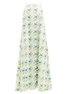 Bernadette Audrey floral-print cotton-blend poplin dress