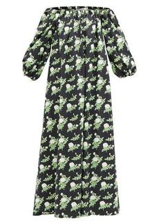 Bernadette Bobby off-the-shoulder floral-print cotton dress