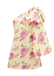 Bernadette Josselin floral-print bow-shoulder dress
