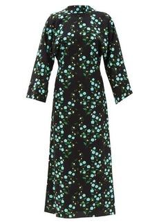Bernadette Miranda V-back floral-print crepe midi dress