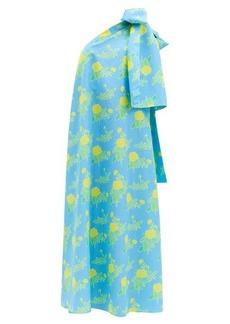 Bernadette Winnie floral-print bow-shoulder dress