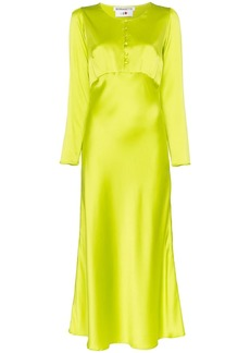 BERNADETTE button front midi dress