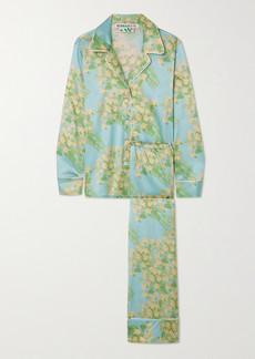 BERNADETTE Floral-print Silk-blend Satin Pajama Set