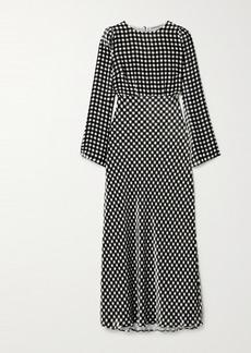 BERNADETTE Jane Gingham Velvet Maxi Dress