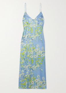 BERNADETTE Jeannie Floral-print Silk-blend Satin Midi Dress