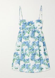BERNADETTE Jules Floral-print Taffeta Mini Dress