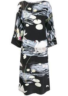 BERNADETTE lily print maxi dress