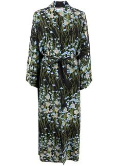 BERNADETTE Peignoir buttercupfield floral-print silk wrap dress